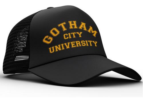 Imagen 1 de 4 de Gorra Trucker Universidad De Gotham Batman Comics Dos Caras