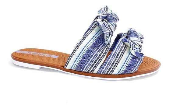 Rasteira Moleca Flats Laço Feminina Jeans