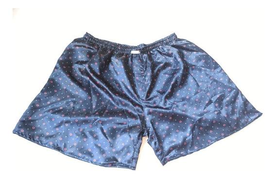Kit 3 Shorts Cueca Samba Canção P/ Homem Cetim Extra Grande
