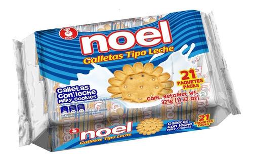 Galletas Noel Leche 21 Paquetes
