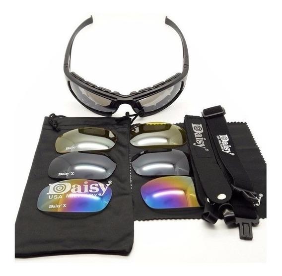 Óculos Tático Militar Daisy X7 Polarizado Airsoft Paint Ball