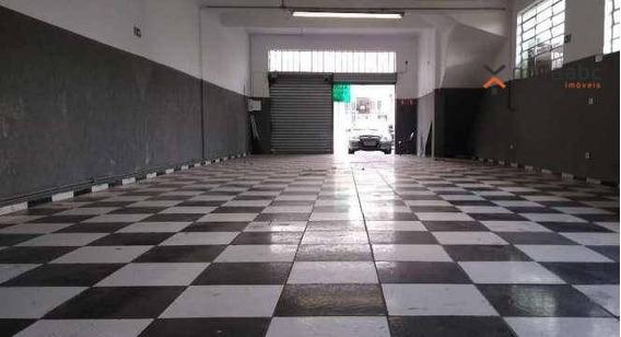 Salão Com Mezanino Para Alugar, 150 M² Por R$ 4.000/mês - Vila América - Santo André/sp - Sl0099