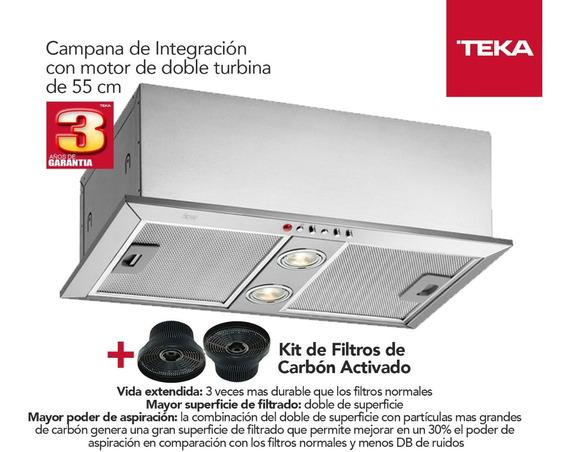 Campana Teka Gfh 55 Empotrable + Filtros C3c Inox Con Envio