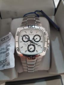 Relógio Bulova Cronógrafo Wb30533n Prata
