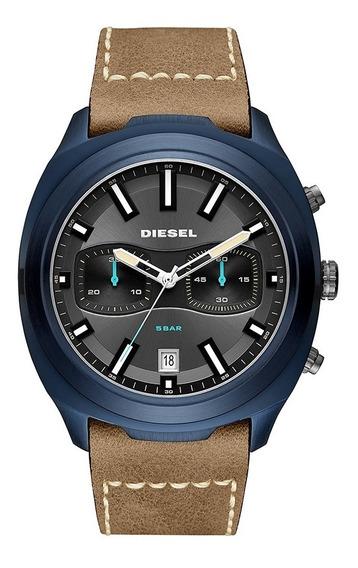 Relógio Diesel Tumbler Masculino Couro Dz4490/omi