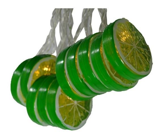Luminária Para Decoração Cordão Luz Led Tema Limão