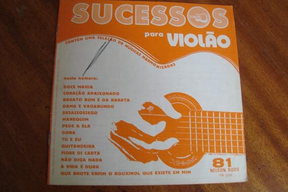 Revista Nelson Roos 81 / Album De Sucessos Para Violao