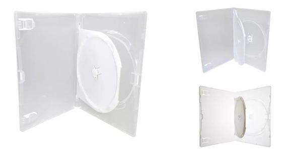 50 Capa Caixa Box Dvd Dupla Transparente Duplo Com Bandeja