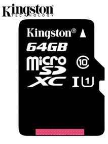 Cartão De Memória Kingston 64gb Classe 10 Microsdhc Original