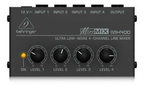 Mixer De 4 Canais 12 Volts Behringer Micromix Mx400