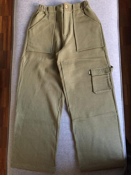 Calça De Moletom Verde ,da Green, Modelo Carpenter - Tam.10