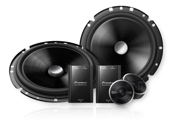 Kit 2 Vias Pioneer Ts-c170br Woofer 6 Pol 120w Rms Crossover
