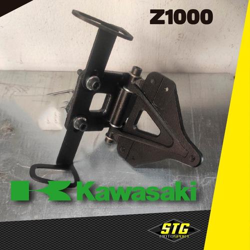 Portapatente Fender Rebatible Stg  Kawasaki Z1000 10/13 C/g
