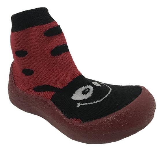 Pantuflas Niña Antiderrapantes Catarina Roja Mini Pugs