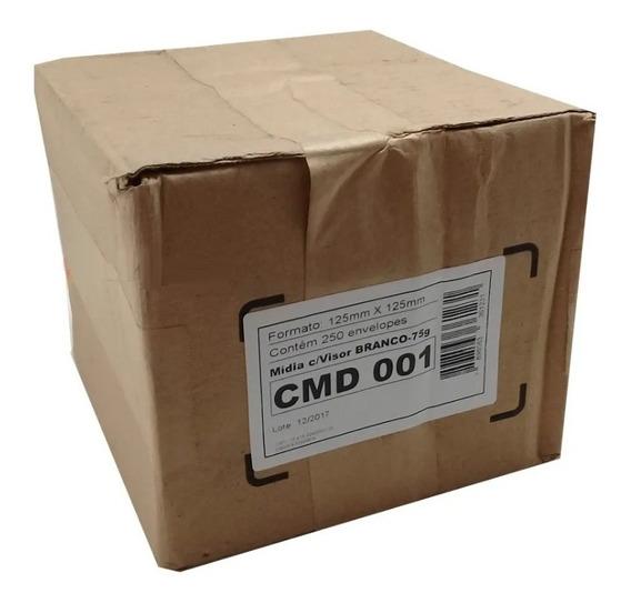 Capas Envelopes Branco Cd Dvd Mídia Janela Transp C/500 Ev