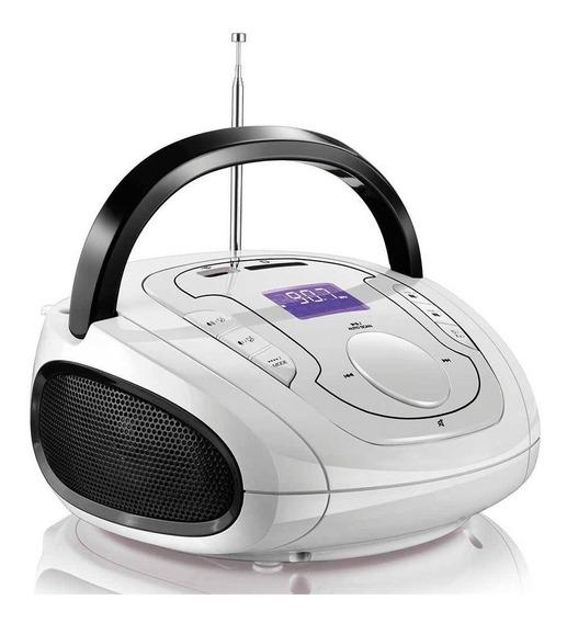 Caixa De Som Multilaser Sp185 Boombox Bluetooth 5 Em 1 Branc