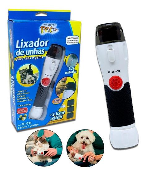 Lixador De Unhas Elétrico Para Cães E Gatos + 3 Lixas Extras