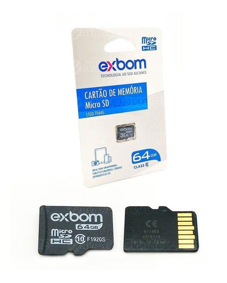 Cartão De Memória 64gb Microsd Para Filmadora Câmera Digital