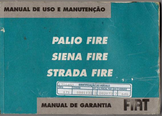 Manual Proprietário Palio Siena Strada Fire 06 07 Kit Compl