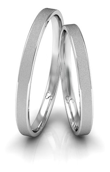 Alianças Namoro Prata Diamantadas 2mm 3g