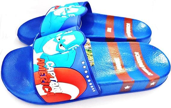 Ojotas Capitan America Marvel Original 29 Al 36 Fty Calzados
