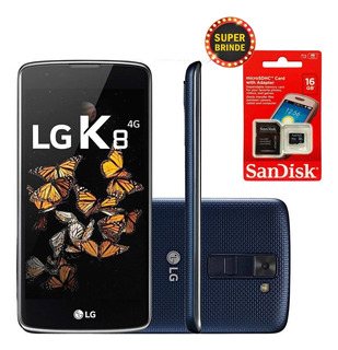 Celular Lg K8 Azul 16gb Dual Chip+ Brinde Cartão Mem. 16gb