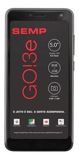 Smartphone Semp Go! 3e Dual Sim 8gb Preto 1gb Ram Qcore + Nf