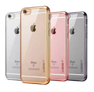Funda Slim Tpu Electro Clear Bumper Cromado iPhone 7 | 8