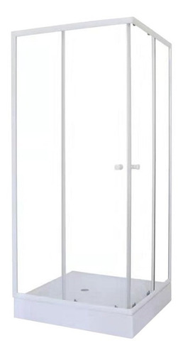 Box De Ducha Cuadrado De 80cmx80cmx200cm Alto C/receptáculo.