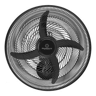 Ventilador De Parede Ponente Oscilante Preto Four 50cm 4 Pás