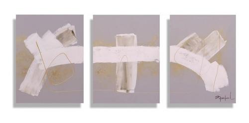 Imagen 1 de 4 de Cuadro Decorativo Triptico Deco Këssa Muebles