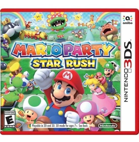 Mario Party Star Rush - 3ds - Mídia Física Novo Lacrado