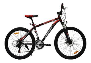 Bicicleta De Montaña Supermex Cooper Suspension Rodada 26