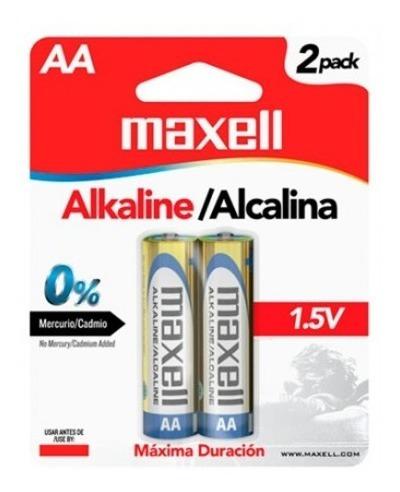 Bateria Alcalina Maxell Aa 1.5v Caja De 48 Blíster De 2pieza