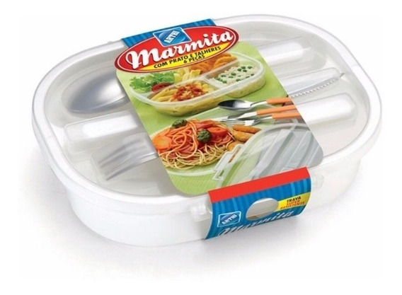 Marmita C/ Prato E Talheres 6pçs Arthi A5377
