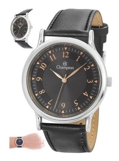 Relógio Champion Masculino Com Pulseira De Couro Ch22813t