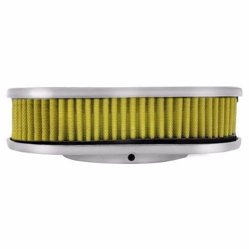 Elemento Filtrante Filtro De Ar Esportivo Oval (amarelo)