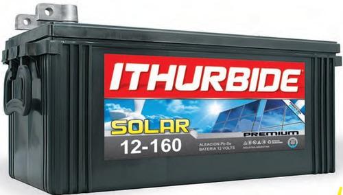 Imagen 1 de 2 de Batería Ithurbide Solar Premium 12v 160ah