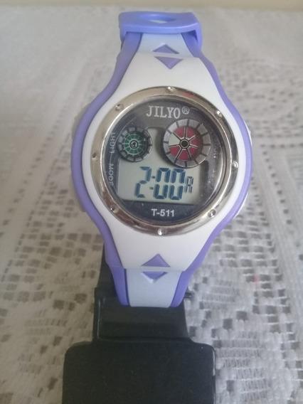 Relógio De Pulso Infantil Rosa Lilás Barato Exclusivo