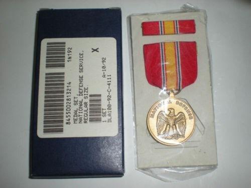 Medalha Militar Us National Defense + Ribbon _ Box