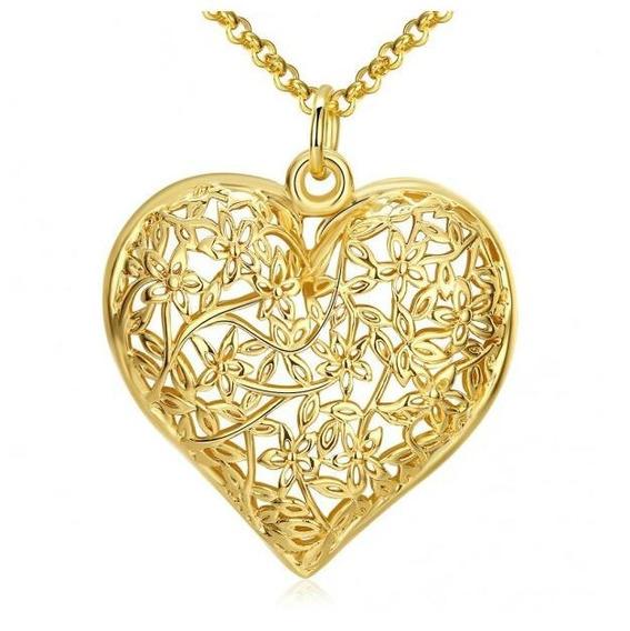 Dije Con Cristales Ocean Heart Oh16-885-baño De Oro
