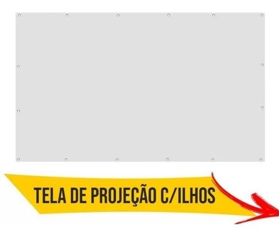 1 Tela 92 Pol. Projeção Data Show Projetor Cinema Em Casa