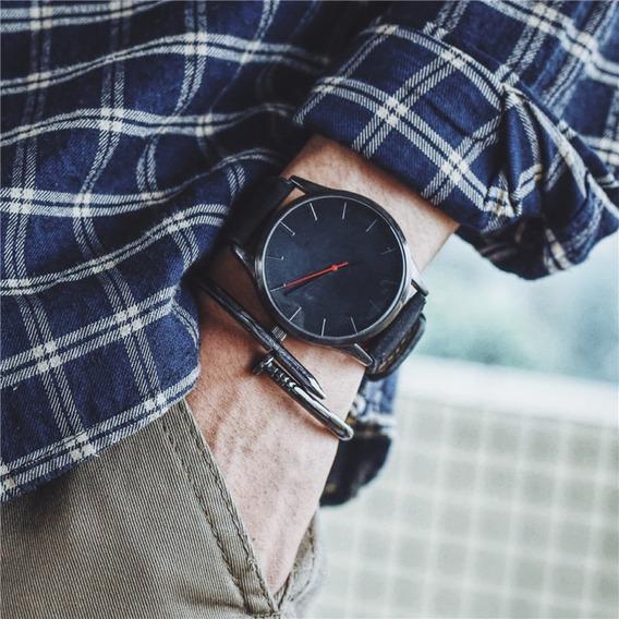 Relógio T3 De Couro Esportivo Relógios Militar