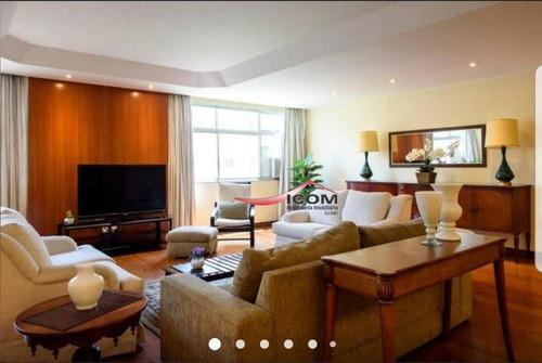 Apartamento Com 4 Dormitórios Para Alugar, 240 M² Por R$ 6.000,00/mês - Ipanema - Rio De Janeiro/rj - Ap4135