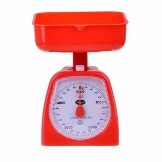 Balanza Cocina 5 Kg Analogica Plastico Colores Ideal Hogar F