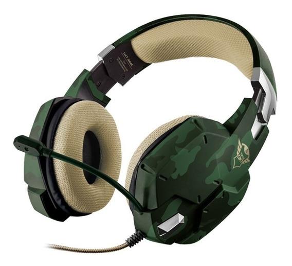 Headset Gamer Trust Carus Jungle Camo Com Fio Pronta Entrega