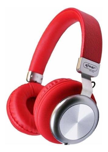 Fone de ouvido sem fio Knup KP-452 vermelho