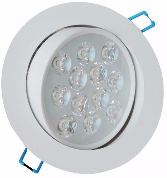 Spot Led 12w Branca Luz Fria Lampada Direcionável Completo