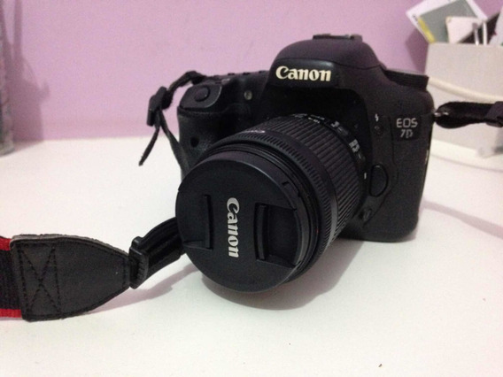 Câmera Fotográfica Canon Eos 7d+lente 18-55mm