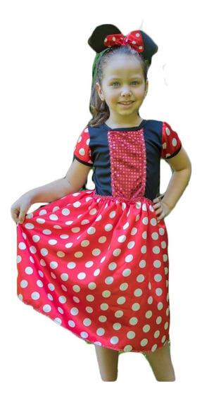 Fantasia Princesa Minnie Infantil Princesas Disney